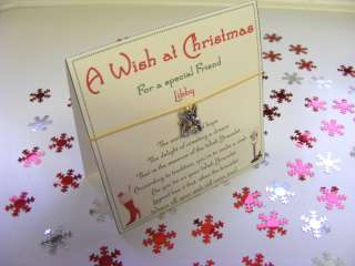 Special Best Friend Christmas Wish Bracelet Gift Card Present Novel