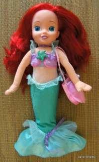 Disney Ariel Little Mermaid Singing Talking Plush Doll Hard Face Soft