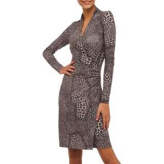 Norma Kamali   Womens Long Sleeve Side Draped Jersey Dress Women