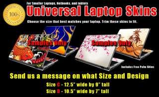 Universal Laptop Skin Smaller Size for Netbooks Tablets