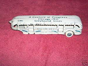 1933 Chicago Worlds Fair Greyhound Bus Lines Toy GMC