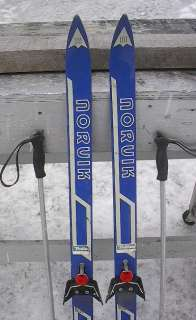 KIDS Cross Country 46 Skis 3 pin 120 cm +Poles NORVIK