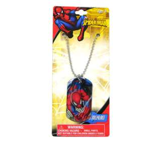 Marvel Spiderman Kids Dog Tag Necklace Chain BIRTHDAY PARTY FAVORS