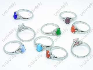ring wholesale mixed lots 100 cat eye silver tone rings