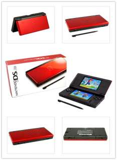 Red & Black Nintendo ndsl DS Lite video game console
