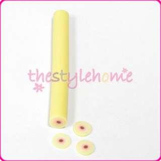 Peach Fruit Design Fimo Clay Nail Art Tip Stick Cane