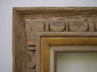 Wide Carved Rustic Western Picture Frame Up To 9x12