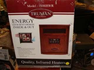 TRUMAN 1500W Portable Quartz Infrared Heater with Remote 1500IRWR