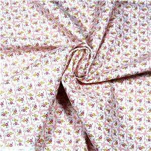 Red Rooster Cotton Fabric Cute Pink & White Tiny Floral Calcio By the