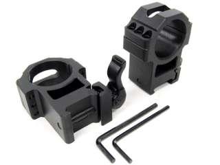 UTG QD 30mm 6 Screw Hi Profile Weaver Rail Scope Rings