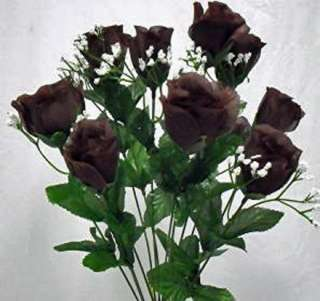 84 Long Stem Roses CHOCOLATE BROWN TRUFFLE Silk Wedding Flowers