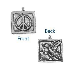 Green Girl Studios Pewter Two Sided Peace Dove Pendant