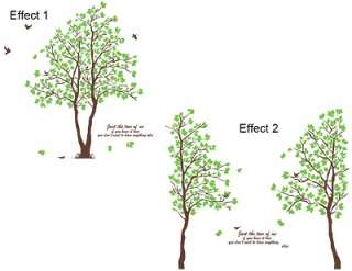 decals sticker LOVE TREE peel stick Gaint Decor nursery baby
