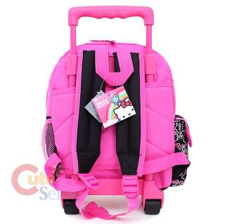 Sanrio Hello Kitty Small Rolling Backpack School Roller Bag Black