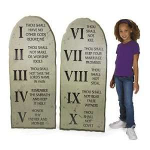 Ten Commandments Stand Up   Party Decorations & Stand Ups