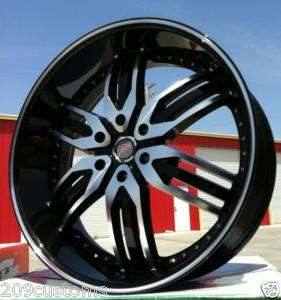 26 F5 RACING WHEELS 125 BLACK RIMS & TIRES ESCALADE