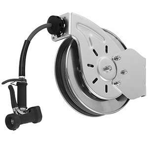 05 50 Open Epoxy Coated Steel Hose Reel with Front Trigger Water Gun